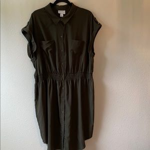 Pure energy army green dress